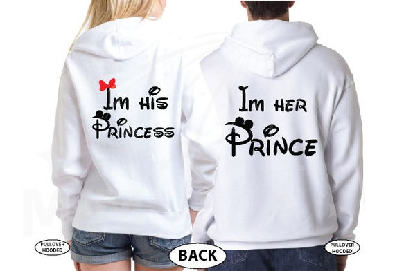 Soulmate LGBT matching couples hoodies for soulmate adorable kissing of Minnie Mouse Disney outfits wedding gifts handmade birthday girl