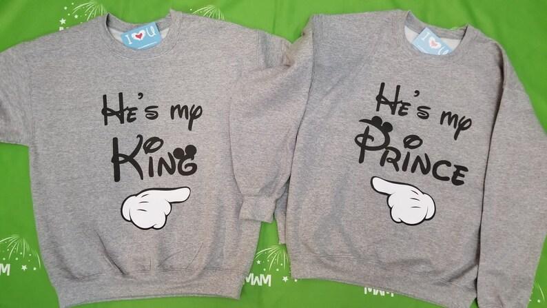33323a70f9 LGBT Gay matching He's My King and He's My Prince | Etsy
