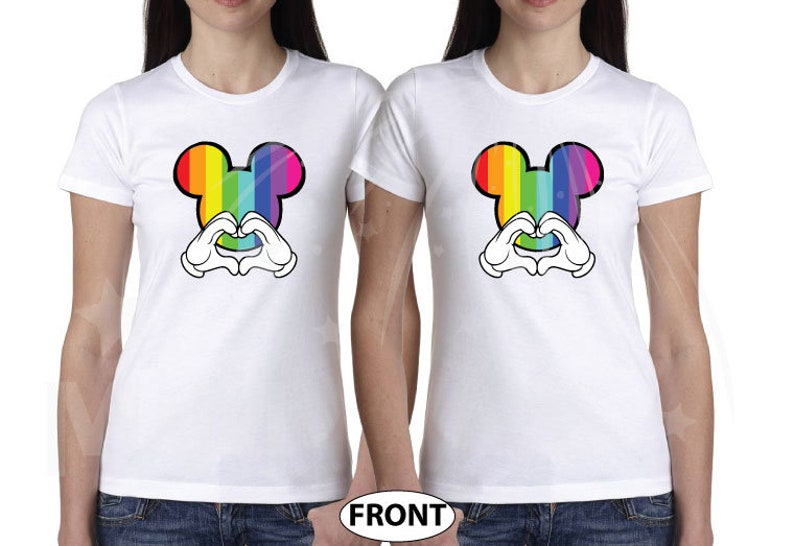 fac6808c6 LGBT Lesbian Im Hers and Shes Mine matching couple white t | Etsy