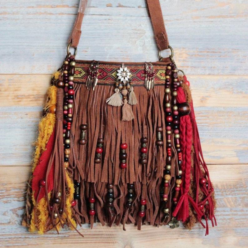 Gypsy purse boho fringe bag hippie bag festival