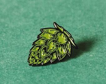 Hop Enamel Beer Pin