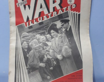 WW2 The war illustrated newspaper from 194w, front cover features king George, articles Inc campaigns in Greece, Libya ect