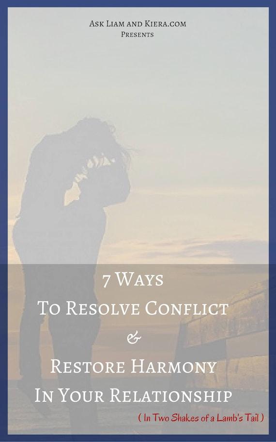 7 ways deal conflict