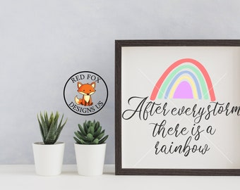 SVG Files - After Every storm there is a rainbow svg - Instant Download - Storms don't last forever svg, farmhouse svg file, couples svg