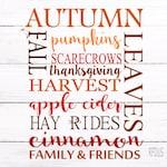 Autumn dall pumpkins scarecrows harvest apple cider hay rides cinnamon svg , Cricut Cut svg, fall svg file, thanksgiving svg, fall y'all svg