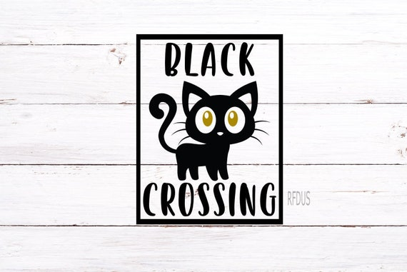 Black Cat Crossing Svg File The Witch Is In Svg Hocus Pocus Etsy