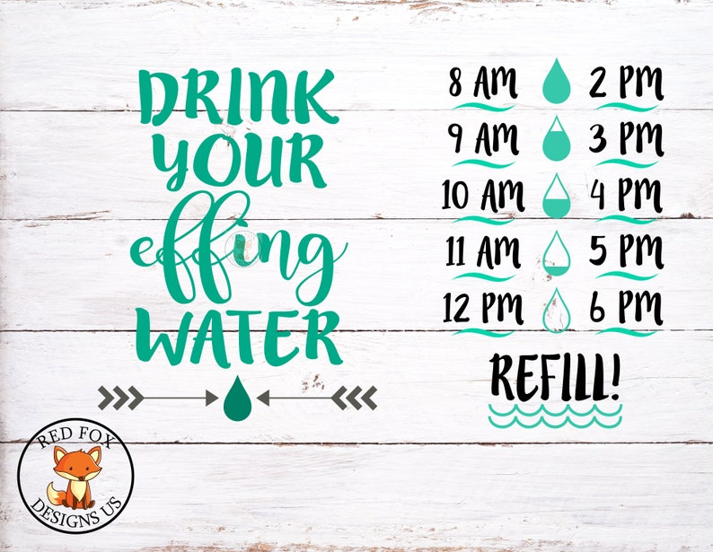 d919cc3858 Drink your effing water svg Drink up buttercup svg water | Etsy