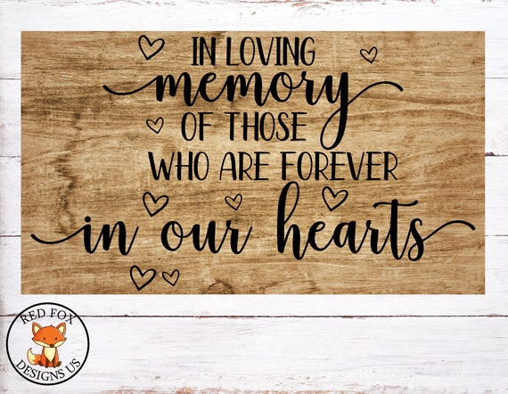 In Loving Memory Svg Because Someone We Love Is In Heaven Etsy