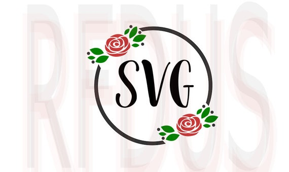 Get Rose Wreath Monogram Svg, Rose Monogram Svg, Wreath Monogram Svg, Wreath Monogram Iron On, Birthday Monogram Svg, Cutting File Cricut, Dxf SVG