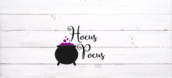 Hocus Pocus Svg Easy Cricut Cutting File Cauldron Svg Witch Etsy