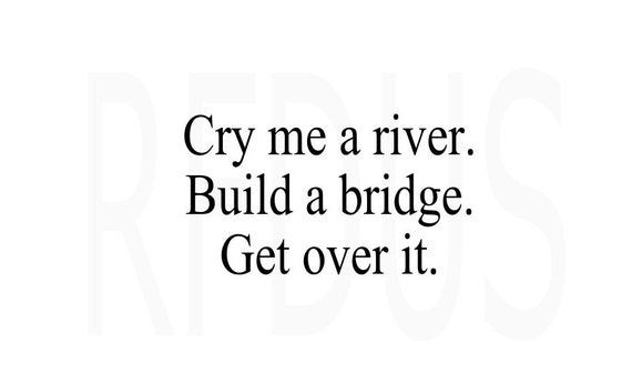 cry me a river build a bridge and get over it svg funny svg etsy
