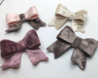 velvet hair bow, velvet baby bow, velvet toddler bow, velvet girl bow, baby hair bow, toddler hair bow, girl hair bow, velvet hair clip, vel