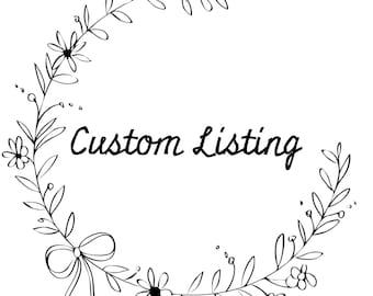 Custom order for Jaime Jackson