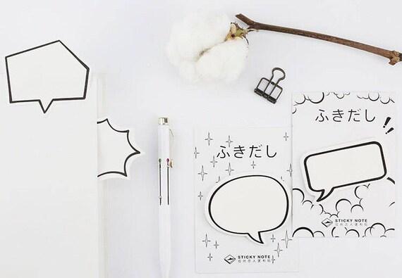 Chat Form Klebrig Karton Stil Klebrige Mahnung Karton Chat Etsy