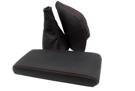 Leather Part Only Fits 1986-1992 Toyota Supra MK3 Real Black Leather Shift /& Ebrake Shift Boot Set with Black stitching.