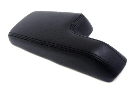 BLACK STITCHING ARMREST LID REAL LEATHER COVER FITS HONDA CIVIC 2001-2005