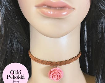 Rose Braided Choker