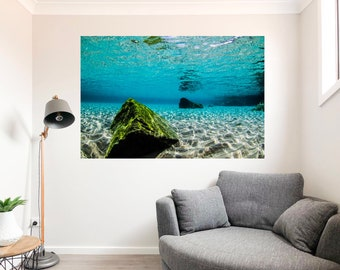 New Wall Art Ocean Photography Acrylic - Submerged Shapes