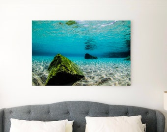 New Wall Art Ocean Photography Canvas - Submerged Shapes