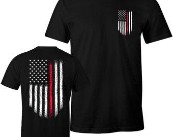 Personalized Fire Fighter Fire Department T-shirt Custom tee shirt