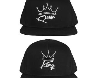 King and Queen Couple Hats His and Hers Couple Caps 6092e84fbaa5