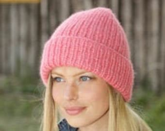 Soft winter hat in desired color - hand knitted - slouch - beanie - cuddly hat - alpaca - ladies hat