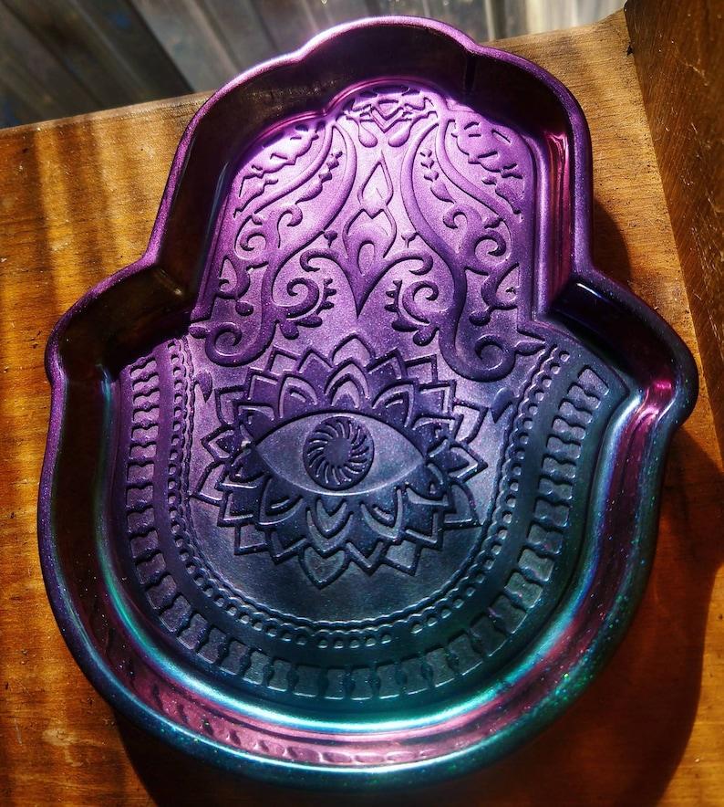 HAMSA Hand Resin Trinket Bowl