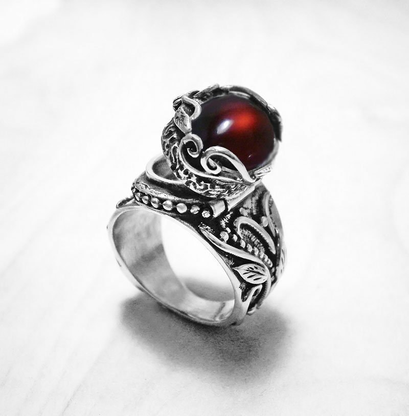 Wiccan Jewelry Ring Opal Ring Silver Druid Jewelry Celtic Druid Ring Twig Vintage Ring Silver Twig Antique Ring Celtic Engagement Ring