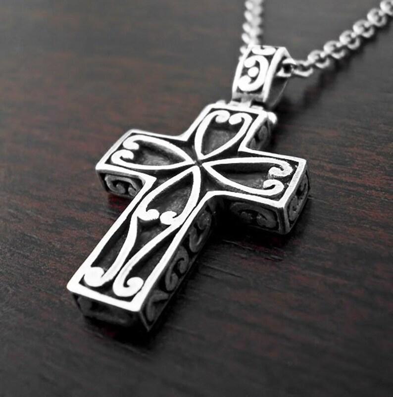 6de3cf0bb Cross hommes collier, collier en argent, bijoux templier, Croix orthodoxe  du symbole, Croix, croisé de croix, Croix byzantine, symbole religieux, ...