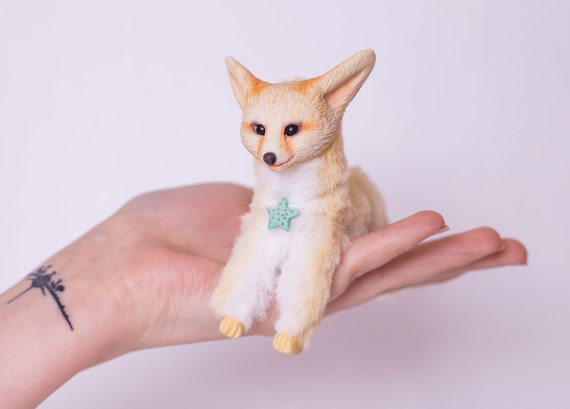 Image of: Porcelana Fria Image Etsy Fox Fennec Art Animal Doll Pet For Bjd Doll Ooak Fennec Clay Etsy