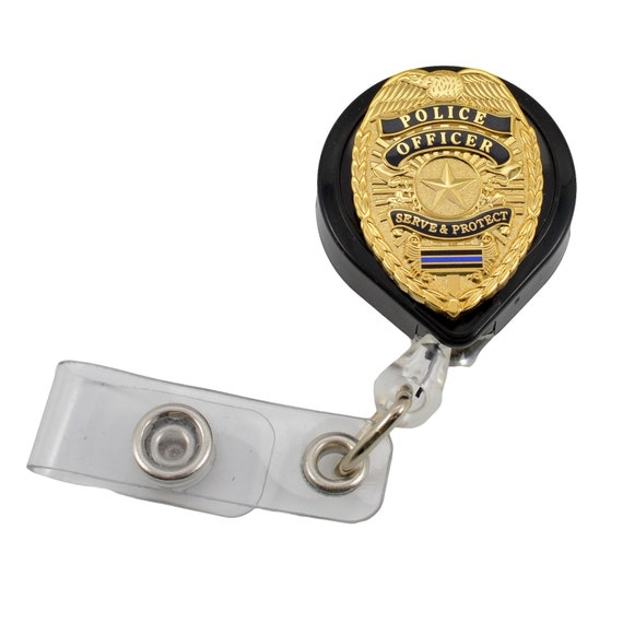 Security Retractable Reel Chrome Badge ID Card Holder Clip