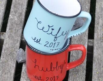 Couples mugs wedding gift engagement gift couple mugs his and hers mugs coffee mug couples mug set mr and mrs mugs anniversary gift wifey