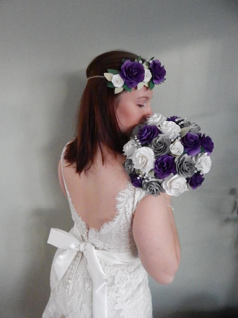 bridal bouquet rose wedding bouquet, Garden rose keepsake bouquet paper rose bouquet bespoke bridal bouquet paper flower bouquet