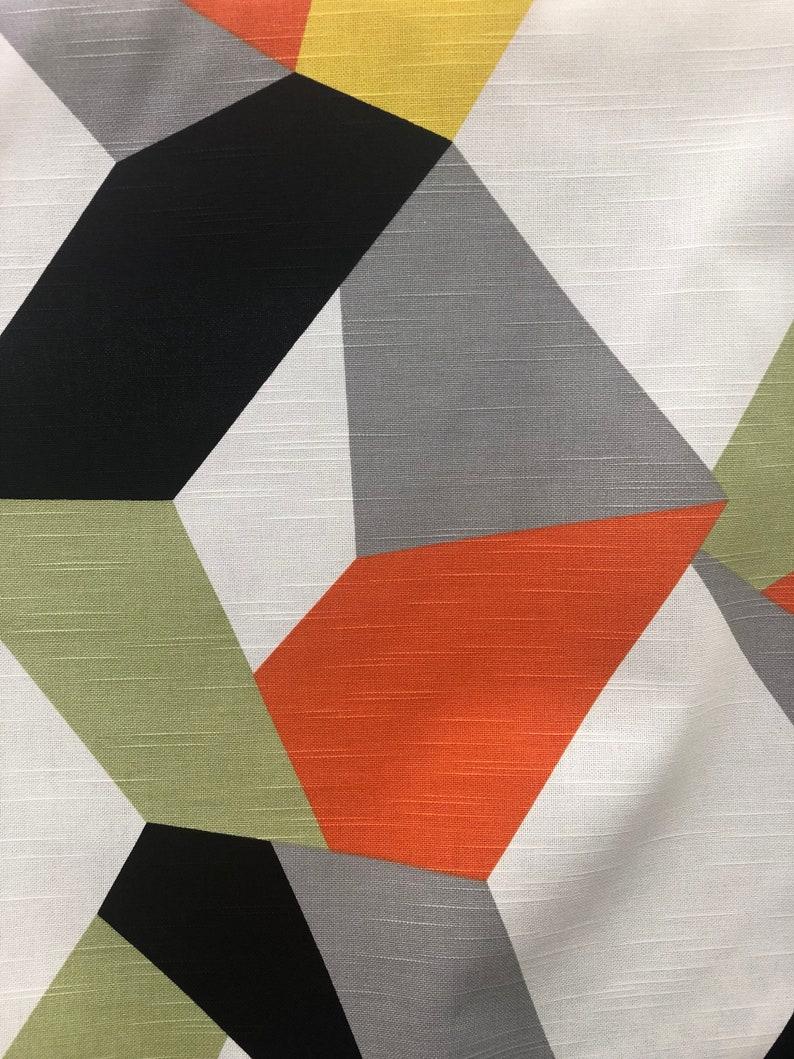 Kravet Urbantwist Jazz 411 geometric 100/% linen white apple green yellow orange black Designer Fabric by The Yard drapery Craft upholste
