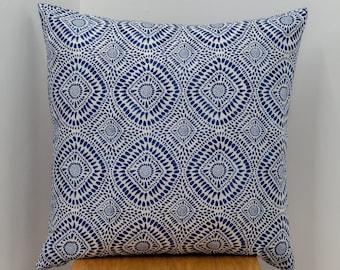 Light Wash Denim Pillow, Denim Pillow