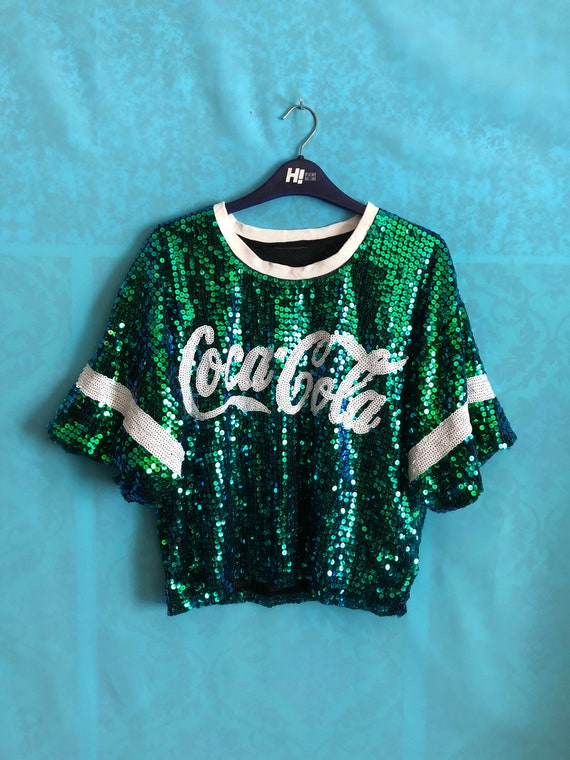 VTG COCA COLA dazzling fashion sequins sparkle sum