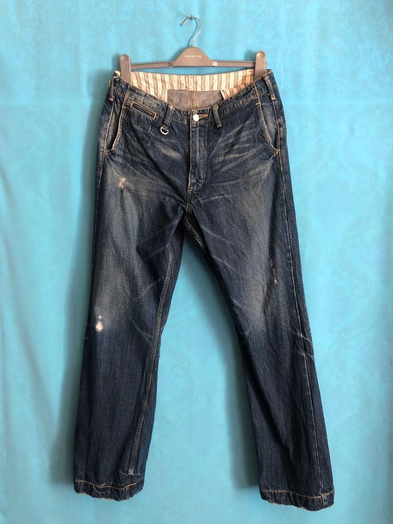 VTG SOPHNET denim distress workwear jeans made in japan size 34 #185