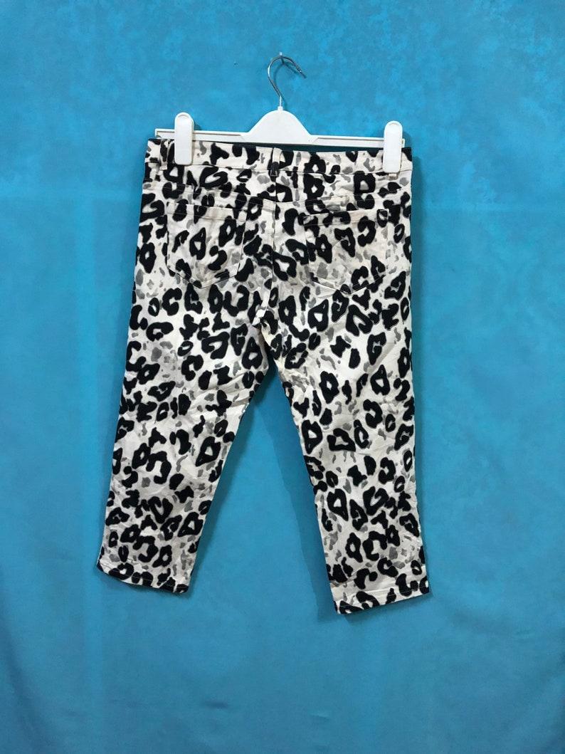 VTG BUONA GIORNATA pants three quarter leopard large womens #43