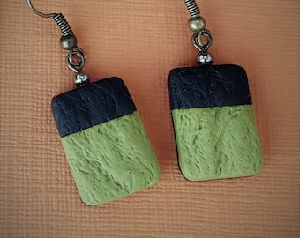 Black and green dangles