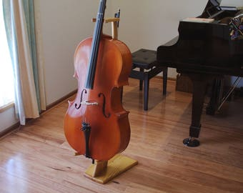 Cello stand - hand made from recycled timber