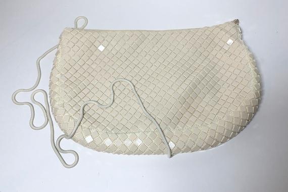 Vintage veneto chain link lucite shoulder bag - vi