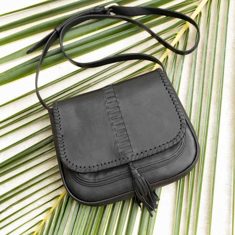 fashion style promo codes affordable price Black Leather Saddle Bag Purse, Black Leather Crossbody Bag, Leather  Shoulder Bag , Leather Crossbody Purse, Crossbody Saddle Bag