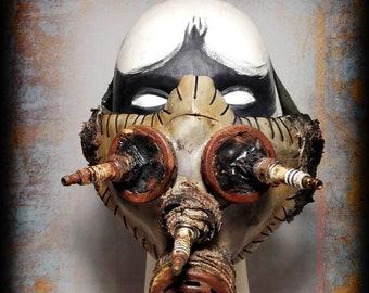 Half mask-Post apocalyptic half mask-baby gas mask-spark plug-wasteland Warrior