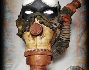 Half mask-Post apocalyptic half mask-gas pipes-Wasteland Warrior