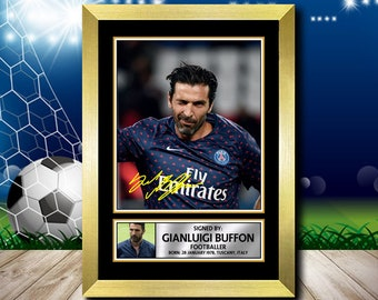 18f2aedb4 Limited Edition Signed Print of GIANLUIGI BUFFON FOOTBALL Poster - Framing  Options - Wall Art Print Autographed Signed Fan Gift Present