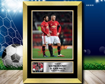 Wayne Rooney Overhead Goal Soccer Signed Autographed A4 Photo Print Poster Gift