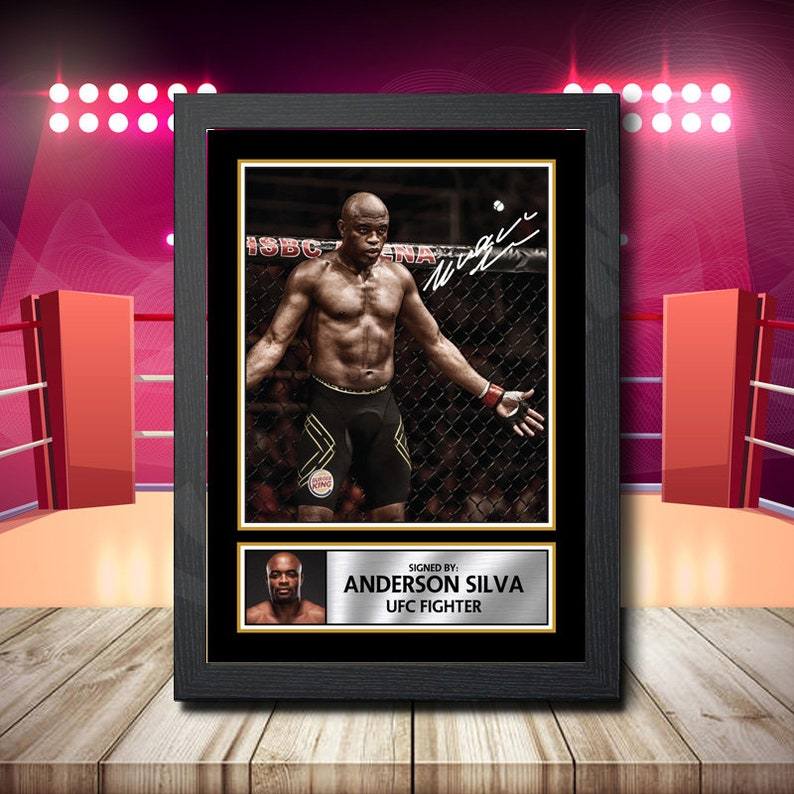 Anderson Silva 2 Boxer Signed Framed Poster Autographed Print A1 A2 A3 A4