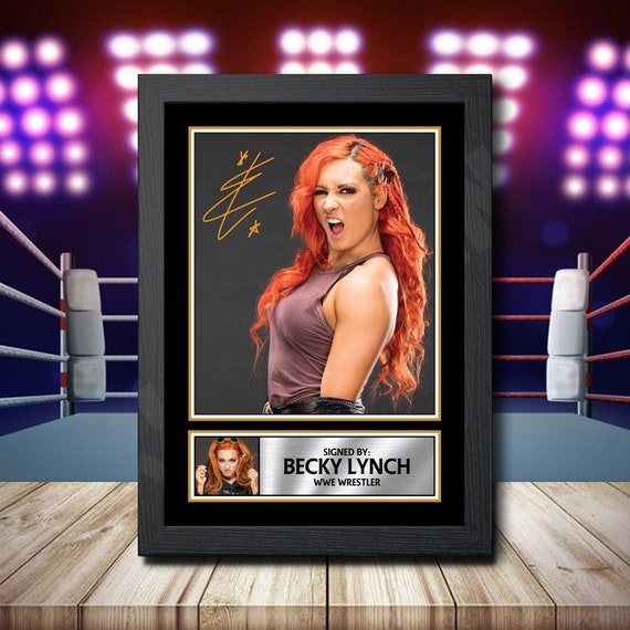 Becky lynch WWE Signed Autographed A4 Print Photo Poster Memorabilia Diva wwf 1