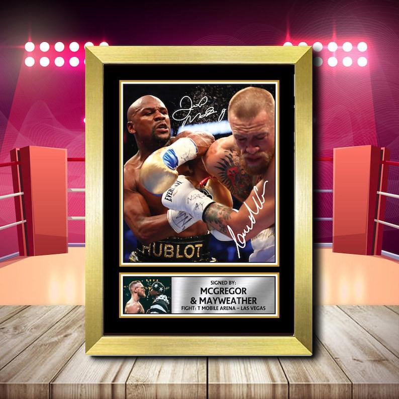 Connor McGregor v Nate Diaz Boxer Signed Framed Poster Print A1 A2 A3 A4