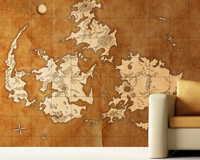 Final Fantasy Vii World Map Mural Etsy